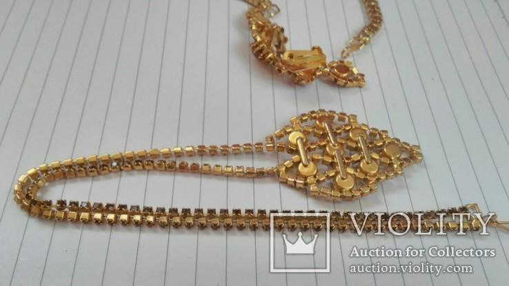 Комплект:Колье,браслет,клипсы.Чехословакия., фото №10