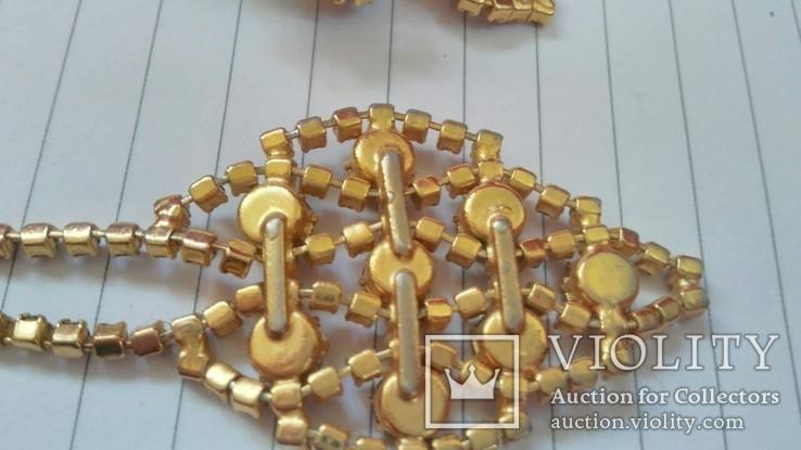 Комплект:Колье,браслет,клипсы.Чехословакия., фото №11