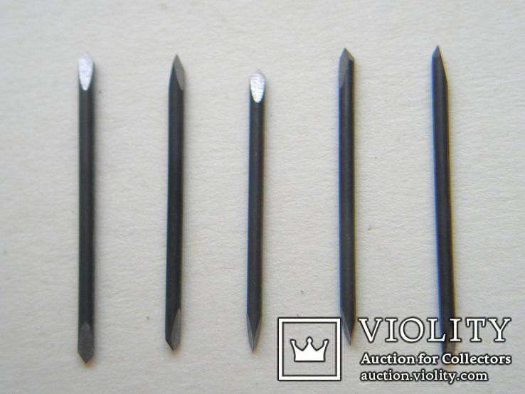 Шаберы для механической чистки, победит, трехгранная заточка, 5 шт. лот1, фото №3
