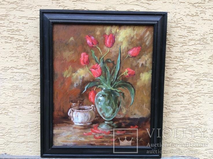 Натюрморт Тюльпаны в вазе