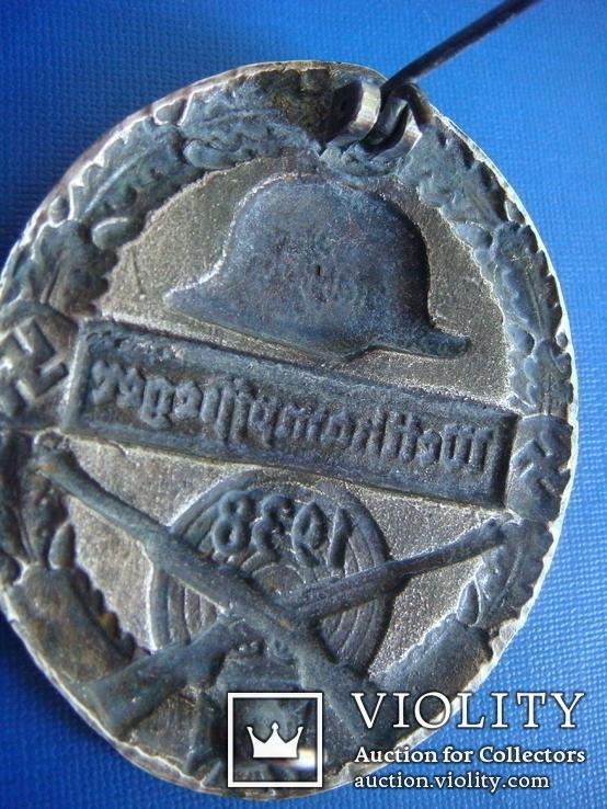 """Нагрудный знак организации"""" Стальной шлем"""" 1938г. КОПИЯ, фото №6"""