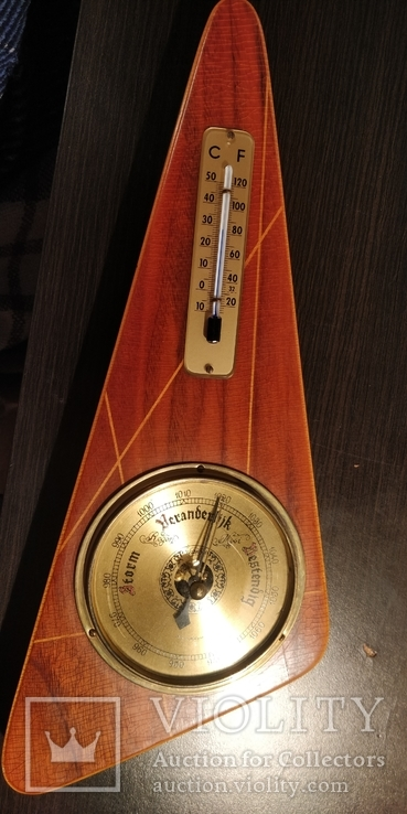 Настенный барометр и термометр,Голландия, фото №2