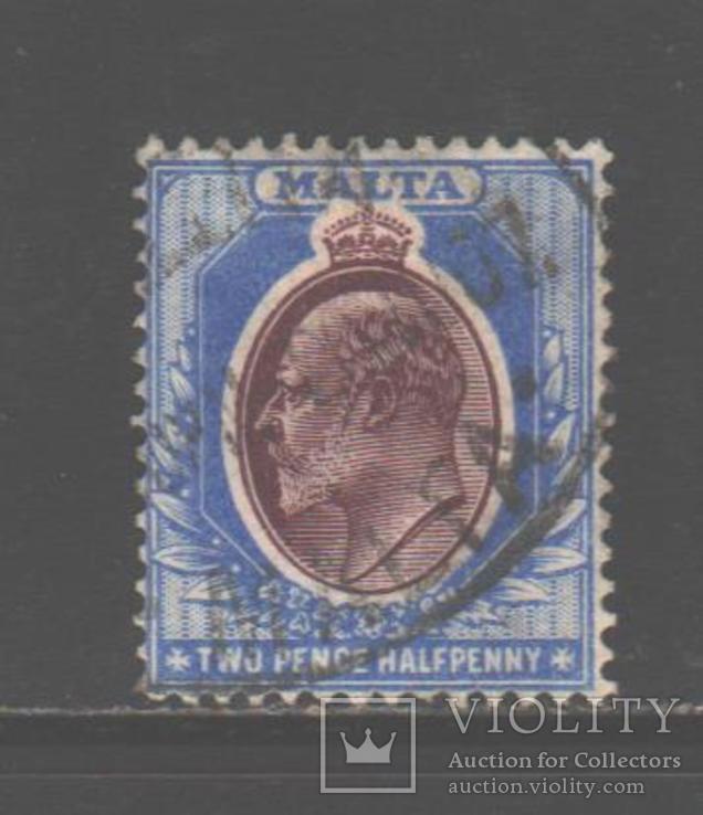 Брит колонии. Мальта. 1904. Эдуард VII, 2 1/2 п., гаш.