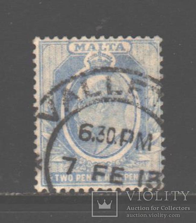 Брит колонии. Мальта. 1911. Эдуард VII, 2 1/2 п., гаш.