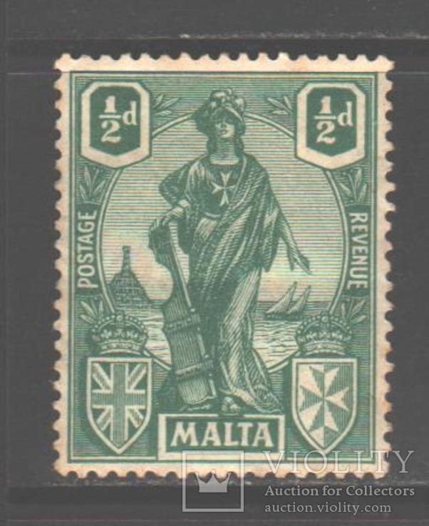 Брит колонии. Мальта. 1922. Мелита, 1/2 п. *.
