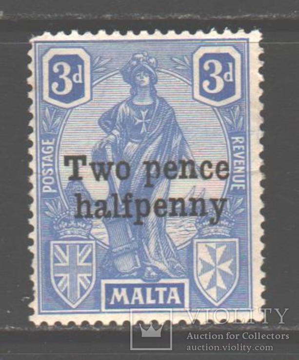 Брит колонии. Мальта. 1925. Надпечатка *.