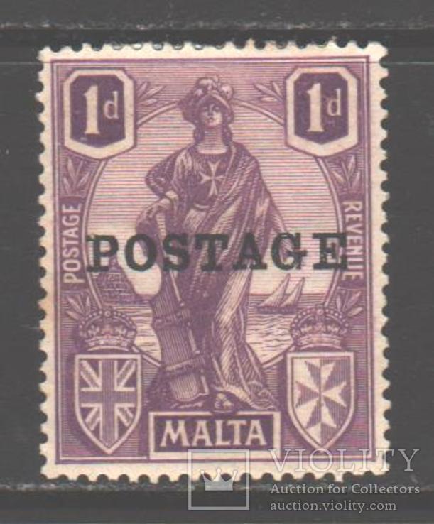 Брит колонии. Мальта. 1926. Мелита, надпечатка, 1 п. *.
