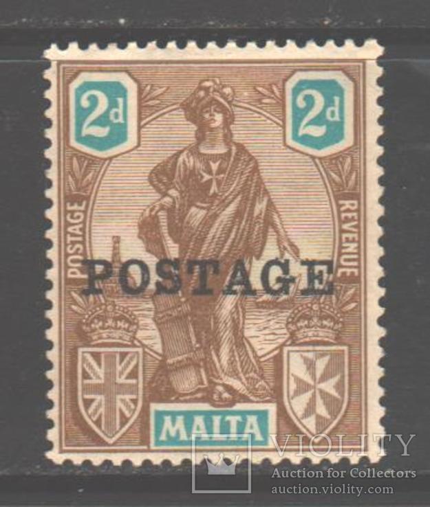 Брит колонии. Мальта. 1926. Мелита, надпечатка, 2 п. *.