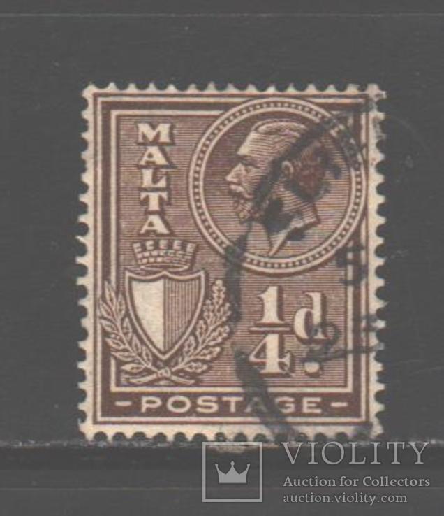 Брит. колонии. Мальта. 1926. Георгий V, 1/4 п., гаш.