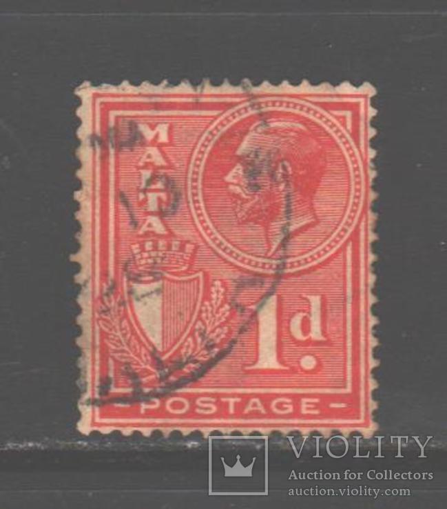 Брит. колонии. Мальта. 1926. Георгий V, 1 п., гаш.