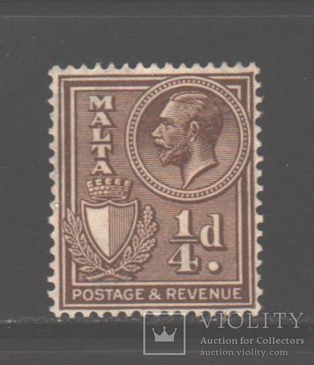 Брит. колонии. Мальта. 1930. Георгий V, 1/4 п. *.