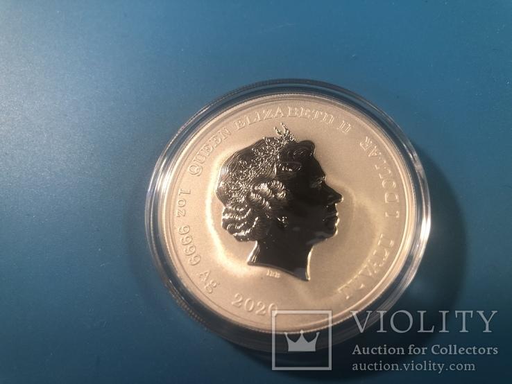 Venom монета Тувалу из серии Марвел, фото №3