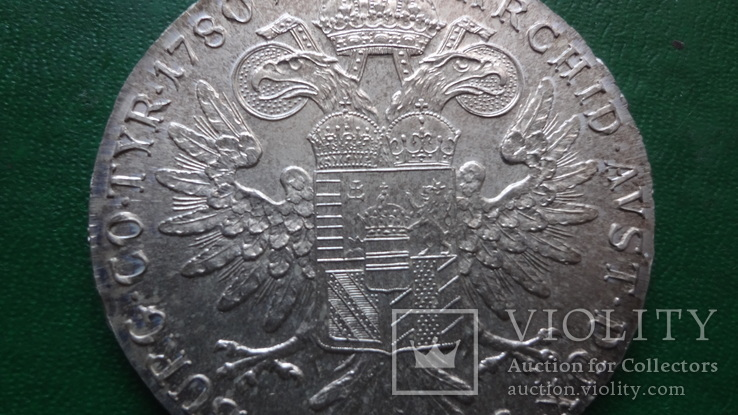 Талер Мария Терезия 1780 серебро (2.5.16)~, фото №2