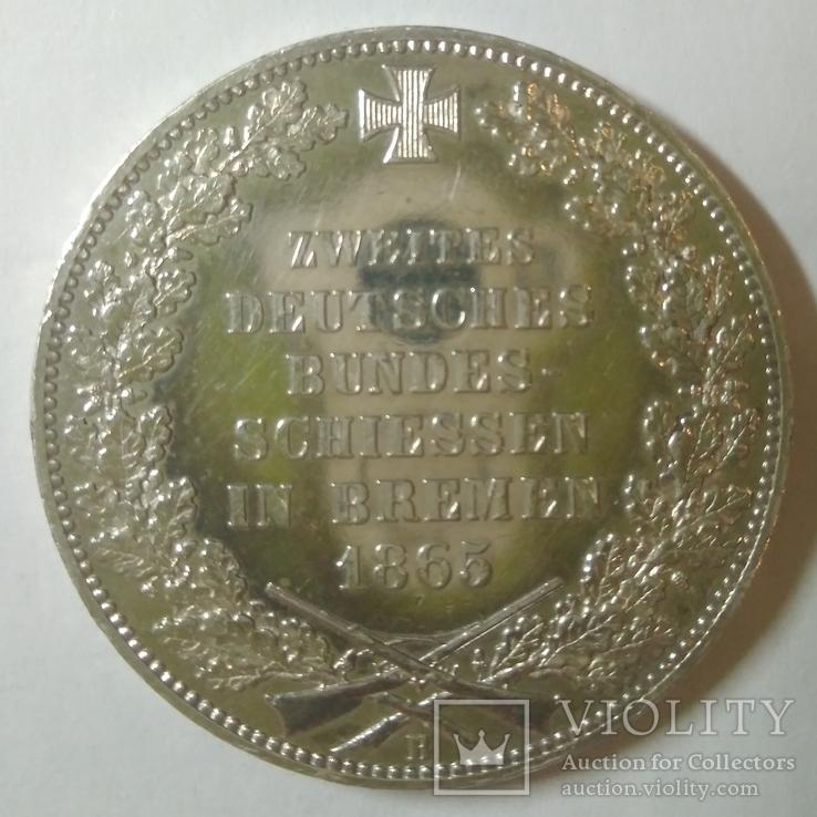 Германские госудорство 1 немецкий талер 1865-B, фото №4