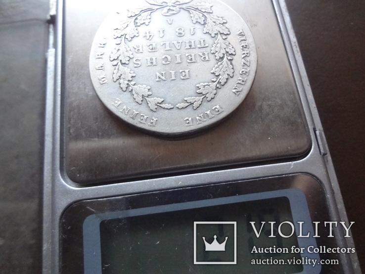 Талер  1814  Пруссия  серебро   (Ф.5.9) ~, фото №5