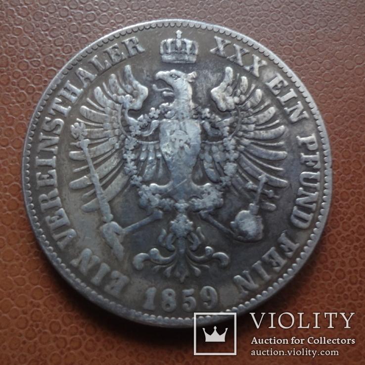 ТАЛЕР  1859  Пруссия  серебро  (М.9.12)~, фото №2