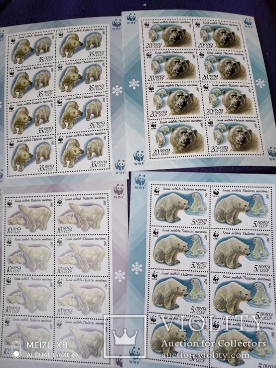 4 малых листа Белые медведи, фото №3
