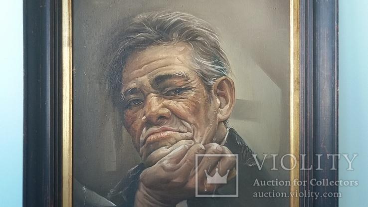 Портрет мужчины 60х77см., подпись автора., фото №4