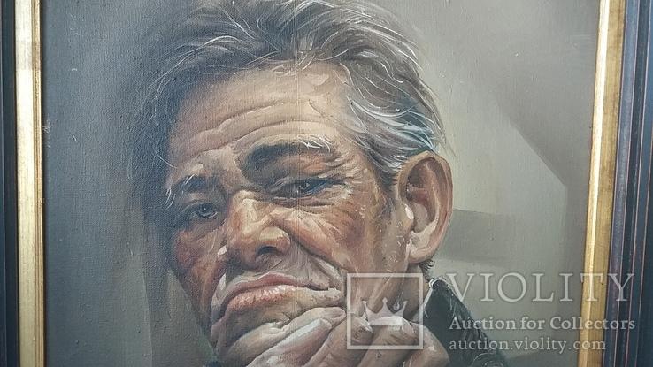Портрет мужчины 60х77см., подпись автора., фото №6