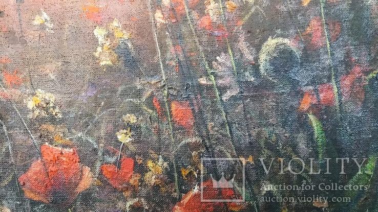 """Картина Шевченка В.А. """"Рассвет"""" холст на картоне,масло, 60х96см., фото №11"""
