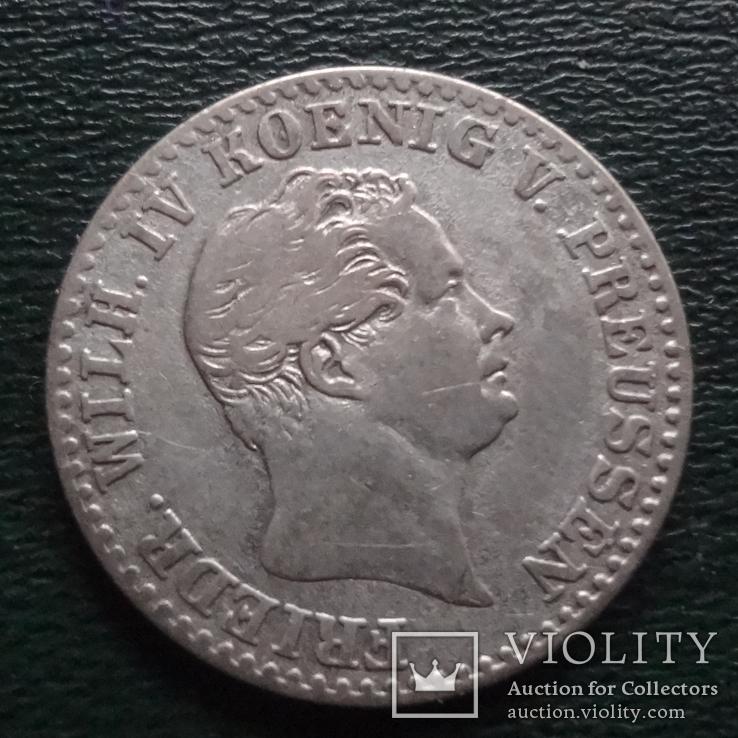 2 1/2 зильбергрошен 1/12 талера 1843  Пруссия серебро (2.2.17)~, фото №3