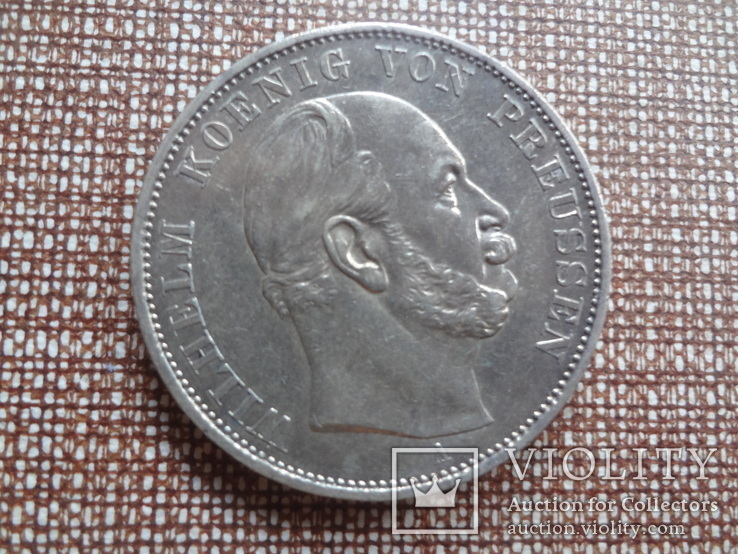1 талер 1871 Пруссия Победный  серебро  (Ж.5.10) ~, фото №3