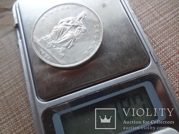 1 талер 1871 Пруссия Победный  серебро  (Ж.5.10) ~, фото №6