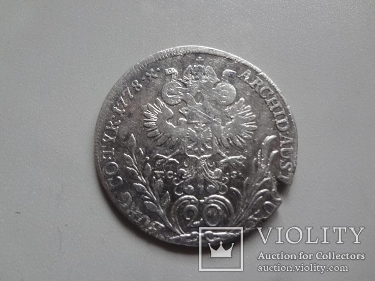20 крейцеров 1778   Мария  Терезия серебро   (9.2.15)~, фото №2