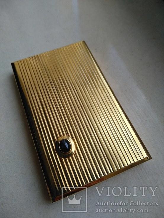 Візитниця чи портсигар. Золото 583 та сапфір, фото №6