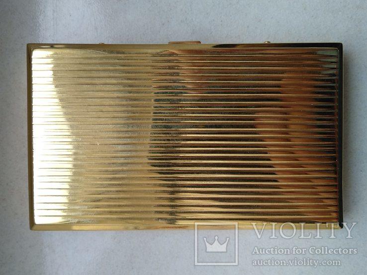 Візитниця чи портсигар. Золото 583 та сапфір, фото №10