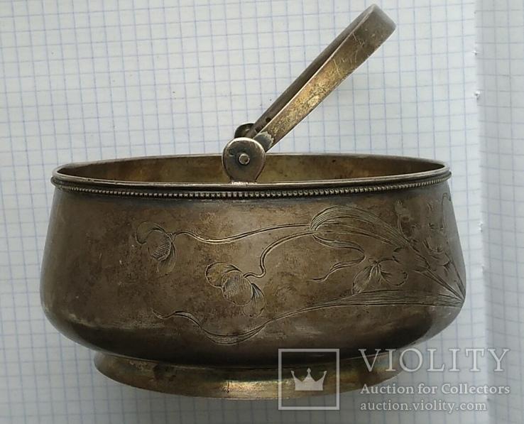 Конфетница №2 периода Царской России. Серебро 84 пробы., фото №7