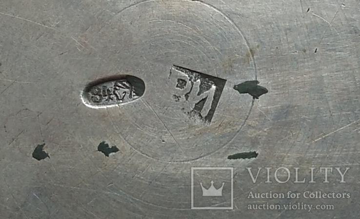Конфетница №2 периода Царской России. Серебро 84 пробы., фото №8