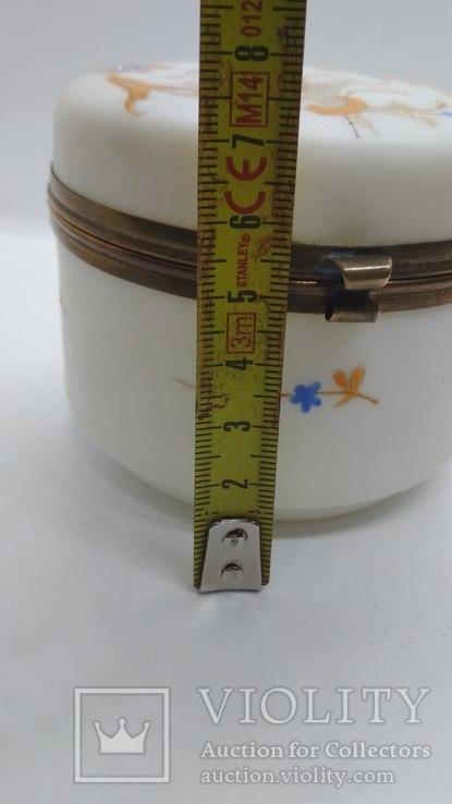 Старинная шкатулка в эмалях, фото №4