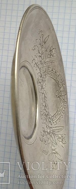 Блюдце периода Царской России, 84 проба, Милюковъ., фото №3