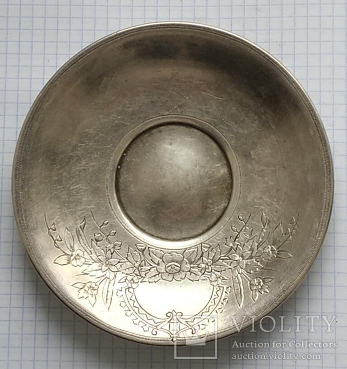 Блюдце периода Царской России, 84 проба, Милюковъ., фото №8
