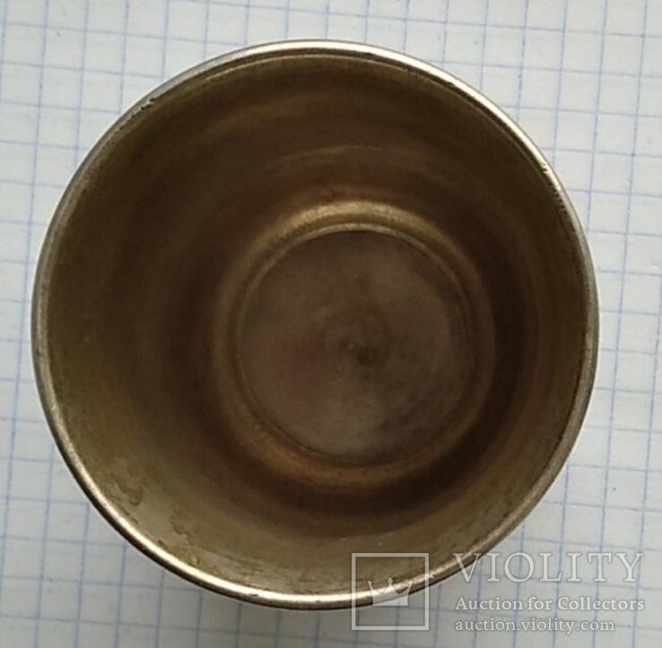Большой стаканчик периода Царской России, 84 пробы, фото №6