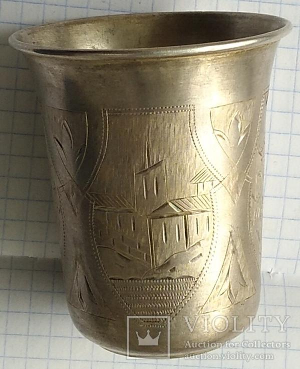 Большой стаканчик периода Царской России, 84 пробы, фото №7