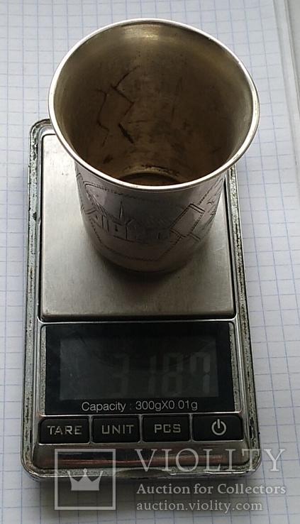 Большой стаканчик периода Царской России, 84 пробы, фото №11
