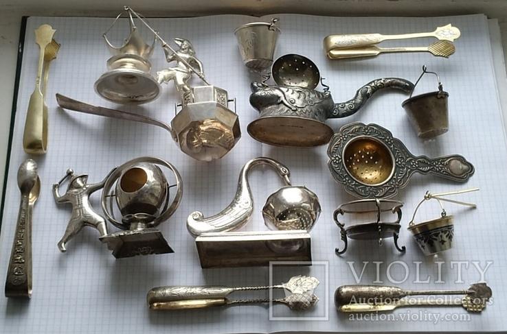 Подборка ситечек для чая + щипчиков для сахара, фото №13