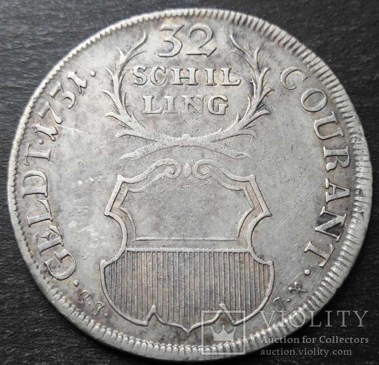 32 шиллинга 1731 год, Любек, Германия , Серебро, фото №2