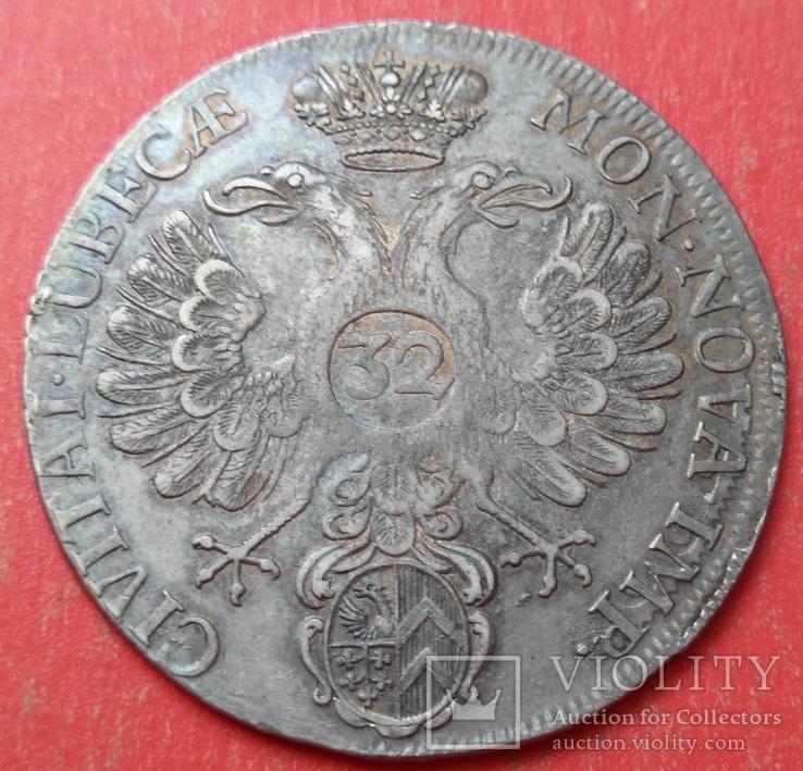 32 шиллинга 1731 год, Любек, Германия , Серебро, фото №5