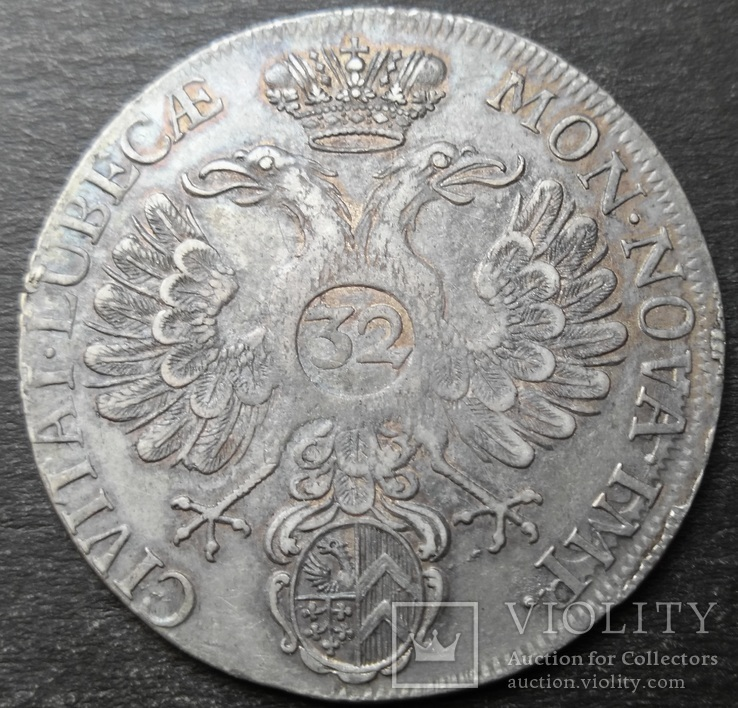 32 шиллинга 1731 год, Любек, Германия , Серебро, фото №7