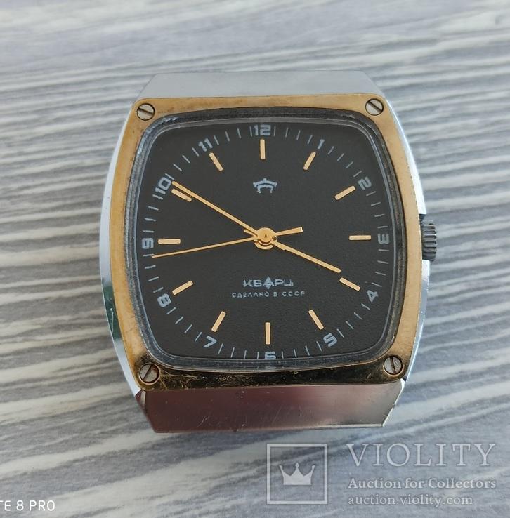 Часы. Ракета / кварц мех. 2356 (кольцо позолота), фото №2