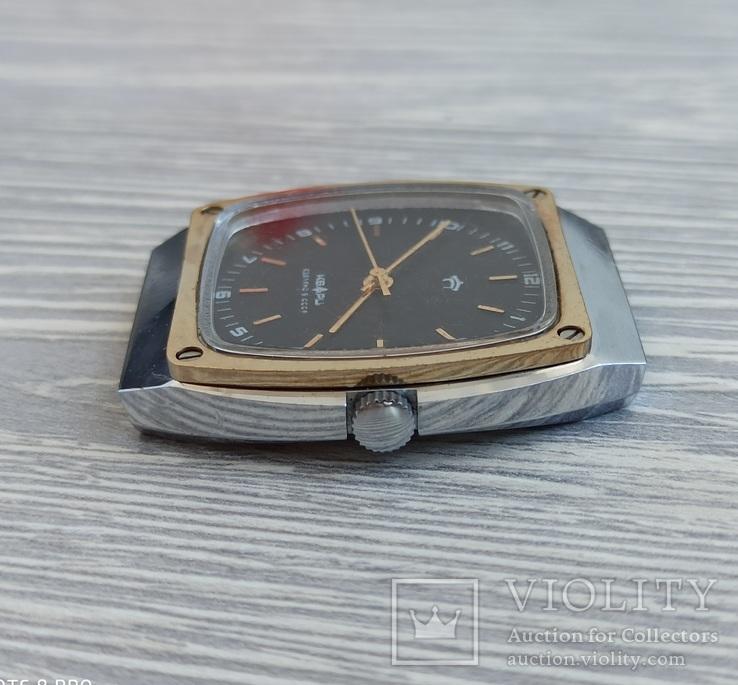Часы. Ракета / кварц мех. 2356 (кольцо позолота), фото №7