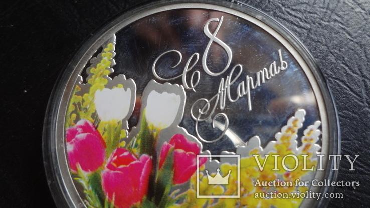 1  доллар 2012  Ниуэ 8  марта  серебро, фото №5