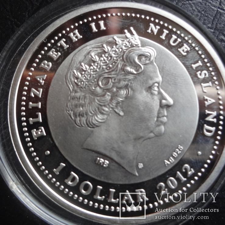 1  доллар 2012  Ниуэ 8  марта  серебро, фото №6