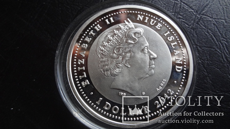 1  доллар 2012  Ниуэ 8  марта  серебро, фото №7