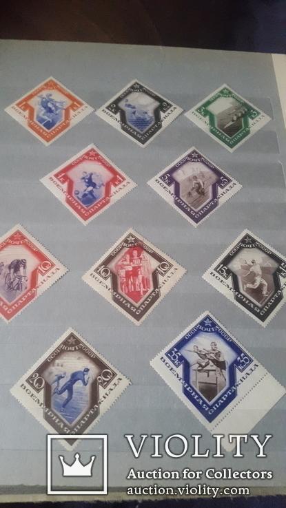 10 негашеных марок СССР Спартакиада 1934года, фото №6