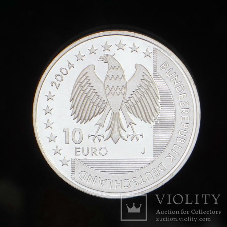 10 Евро 2004 Национальный парк Гамбургские ватты (Серебро 0.925, 18г), Германия, фото №3