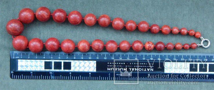 Бусы коралловые 119 грамм, шары, Европа, 1950-1960 г.в., фото №3